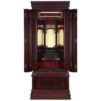紫檀仏壇「鷹山 筬」55-20 半間仏間用 直置用 国産