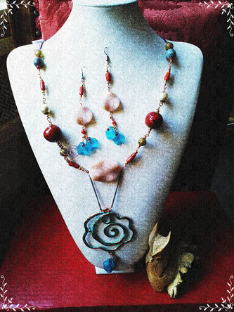 Stones and Flowers parure - 30,00 Euro