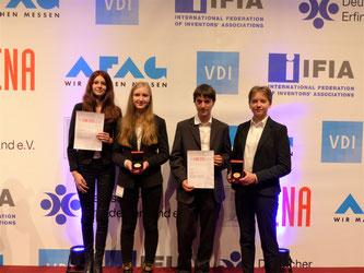 von links: Lorena Koch, Aileen Girschik, Jan Reckermann und Sofia Mik