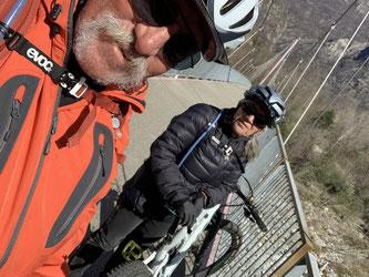 Fahrrad- und Fussgängerbrücke über die Melezza, Tessin