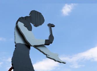 Hammering Man © dokfoto.de / Klaus Leitzbach
