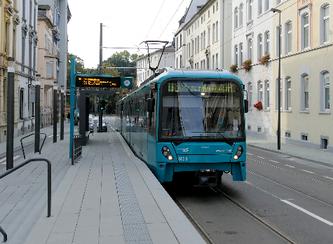Einfahrt U5 an der Musterschule © rheinmainbild.de