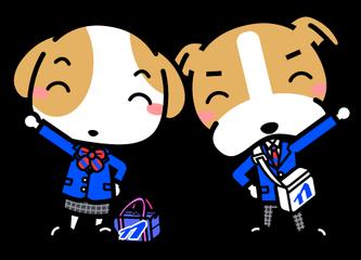 なんとうキャラクター高校制服着用画像