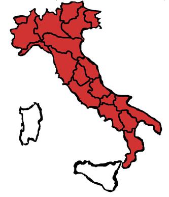 Rizzo Trans Routen in Italien