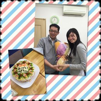 ケーキが苦手な野崎先生のために、相澤先生がライスケーキを作ってくれました(^^♪