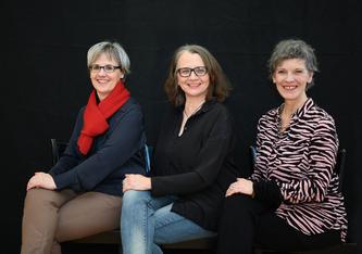 Die Gründungstanten Pia Steiner, Josefine Krumm & Alice Lüps