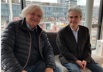 Manfred Klemann und Matthias Ackeret in Zürich (Foto: Urs Heinz Aerni)