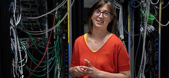 Die Genfer Astronomin Anne Verhamme erhält vom SNF den Marie Heim-Vögtlin-Preis 2019.  © SNF / Cornelia Vinzens