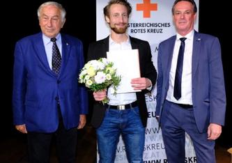 Diesjähriger Humanitätspreis der Heinrich-Treichl-Stiftung des Österreichischen Roten Kreuzes geht an Gery Keszler, Joseph Marko, Martin Moder und Lidl Österreich (C) RK