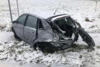 Unfallfahrzeug (Bildquelle: Kantonspolizei Freiburg)