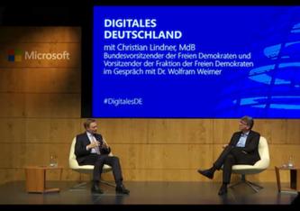 Will den Grünen nicht die Staatsfinanzierung überlassen: FDP-Chef Christian Lindner im Gespräch mit dem Verleger der WEIMER MEDIA GROUP Wolfram Weimer.