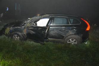 Der Lenker verlor die Kontrolle über den Volvo. (Bildquelle: Polizei Kanton Solothurn)