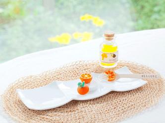 素敵なペーパークイリング掲載作品 柚華 オレンジのテーブルセッティング