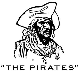 Nel disegno il primo Logo dei Pittsburgh Pirates