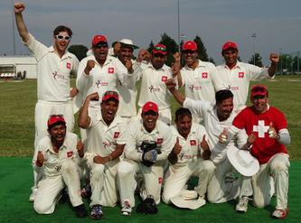 Cricket Switzerland after winning tri-nation ODI in Warsaw in 2015
