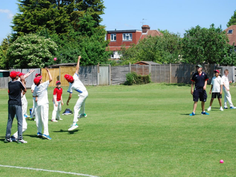 Catching practice at Deando Ruxley CC