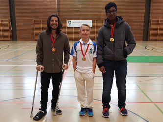 2017 Bob Barber award winners 2017, (l-r) Aiden Andrews, Owen Thompson & Hemant Ganesh