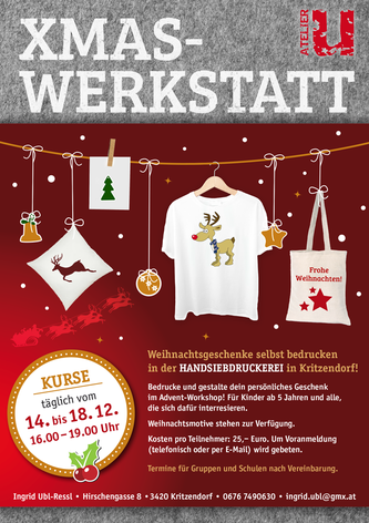 Flyer, Advent, Salzwasserfuchs, Siebdruck
