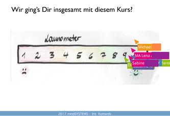 Das Launometer zum Kurs im letzten Webinar erstellt:-)