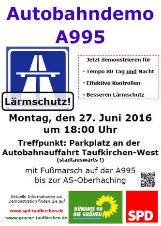 Plakat zur Autobahndemo
