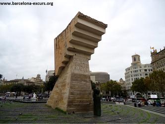 Уличная скульптура Барселоны. Посвящение Франсеску Масиа.