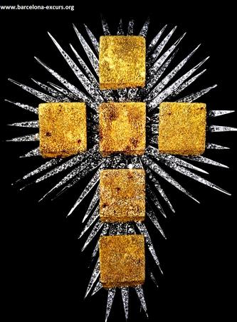 Ювелирные изделия Сальвадора Дали. Крест из золотых кубов