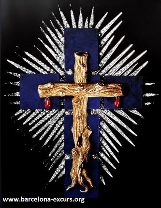 Ювелирные украшения Сальвадора Дали. Крест из лазурита
