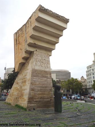 Посвящение Франсеску Масиа. Уличная скульптура Барселоны