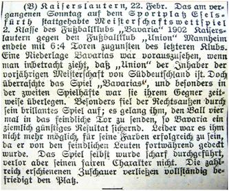 Stadtanzeiger Kaiserslautern, No. 45, 22.02.1906 (Quelle/Foto: Stadtarchiv Kaiserslautern/Eric Lindon)