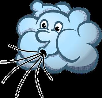 Zeichnung einer Windwolke