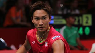 Die Chance auf eine Olympiamedaille dahin: Kento Momota (Bild: Bernd-Volker Brahms)