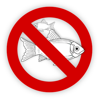 Symbo für Lebensmittel ohne Fisch
