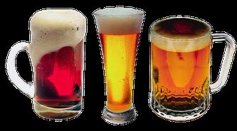 Unterschiedliche Biere in Gläsern