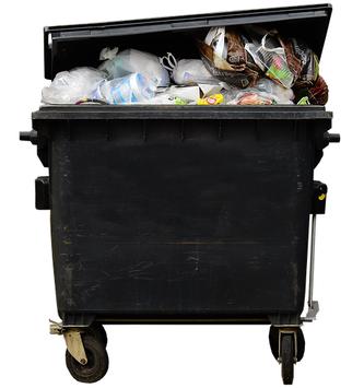 Mülltonne überfüllt