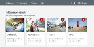 Der neue Radroutenplaner Ruhr - auch als App mit vielen Funktionen.