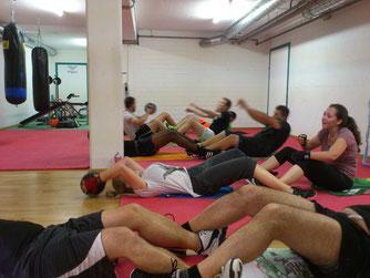 Fitnessboxen, Bauch u. Rumpftraining, Sept. 2016 @ M's-Gym Bern Ittigen