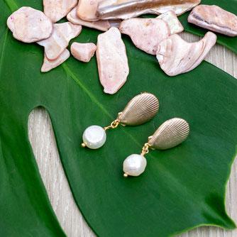Ohrringe Seashell Pearl Earring
