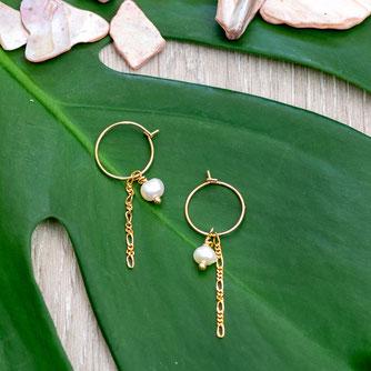 Ohrringe Chain Pearl Earring