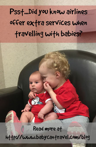 A reference list for the world's major airlines with links to the extra services they provide for families flying with babies.