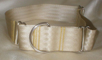 Martingale, Halsband, 4cm, Gurtband champagnerfarben