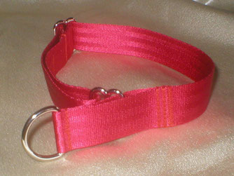 Zugstopp, Halsband, 2,5cm, Gurtband rot