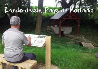 rando dessin pays Morlaàs tourisme Nord Béarn Madiran