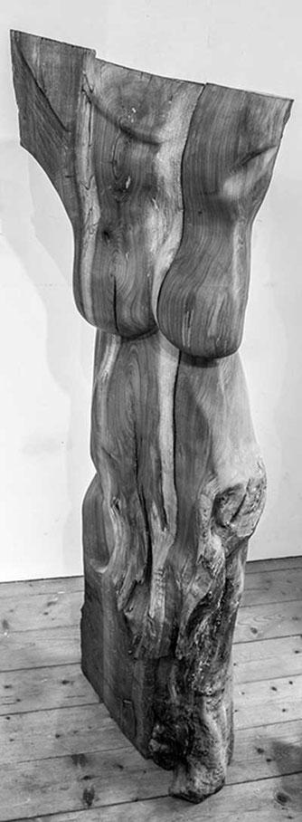 Skulptur,weiblich,handgeschnitzt