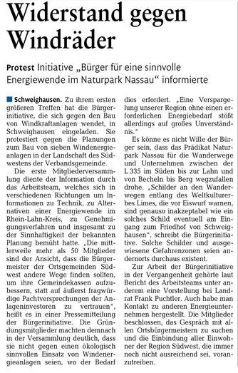 Rhein-Lahn-Zeitung v. 09.12.2014