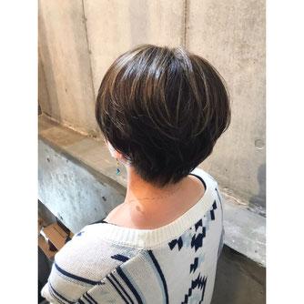 横浜 元町 石川町 美容室 ヘアサロン 美容師 美容院 ショート ハイライト マスクに似合うヘアスタイル バレイヤージュ