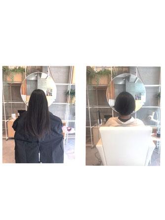 横浜 元町 石川町 美容室 ショートヘア ボブ 縮毛矯正