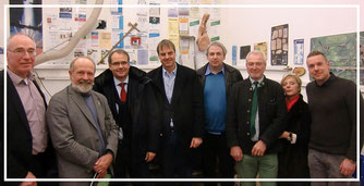 v.l.: Claus-Jürgen Schillmann, Prof. Ulrich Joger, OB Ulrich Markurth, Detlef Kaatz, Dr. Henning Zellmer, Dr. Rüdiger Scheller, Kristiane Scheller, Dr. Ralf Kosma
