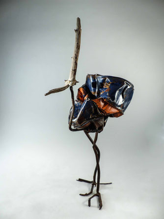 sculpture bois/métal