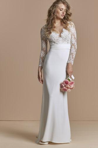 robe de mariée fourreau dentelle yvelines 78