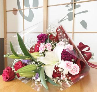 お誕生日のプレゼントでいただいた花束
